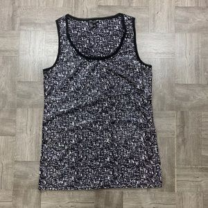 Ann Taylor black Sequines tank top